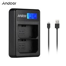 Andoer LCD2 FZ100 lcd 디스플레이 소니 NP FZ100 a9 a7riii a7iii 카메라 배터리 충전기에 대 한 듀얼 채널 카메라 배터리 충전기