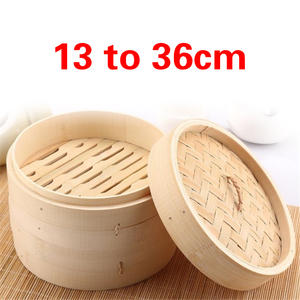 Bamboo Steamer Fish Rice Vegetable Snack Basket Set Kitchen Cooking Tools One Cage and One Cover Cooking cookware cooking