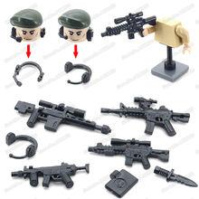 Строительный блок фигурки с оружием военная модель moc ww2 «сделай