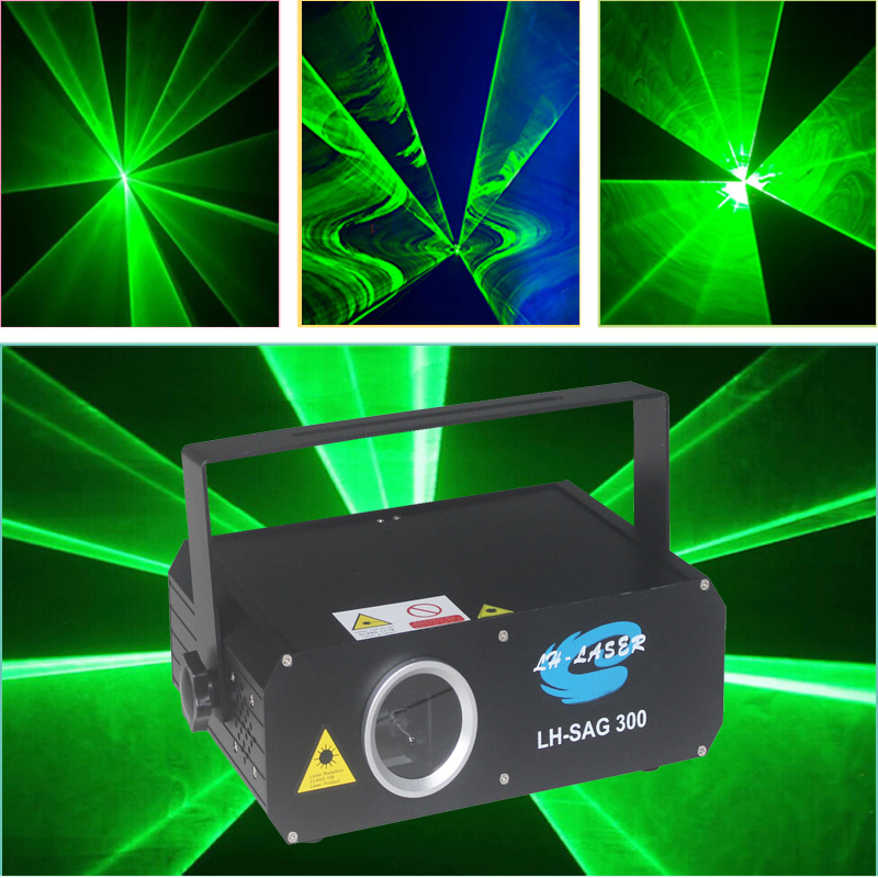 Mini 300mW Green Laser Light , 300mw Green Animation Laser , Dj Disco Night Club Lighting Green Outdoor Laser Light Show