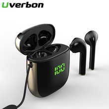 WK60 TWS Bluetooth Earphone With Mic LED Display Wireless Bluetooth Headphones Earphones Waterproof Noise Cancelling Headsets august ep725 wireless sweatproof sports earphones for gym running active noise cancelling bluetooth headphones headsets with mic