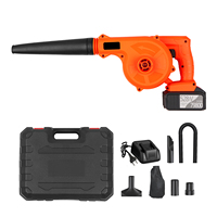 21V Cordless Leaf Blower 2 in 1 Sweeper and Vacuum Electric Air Blower Computer Cleaner Garden Power TooL Kit with Suction Hose