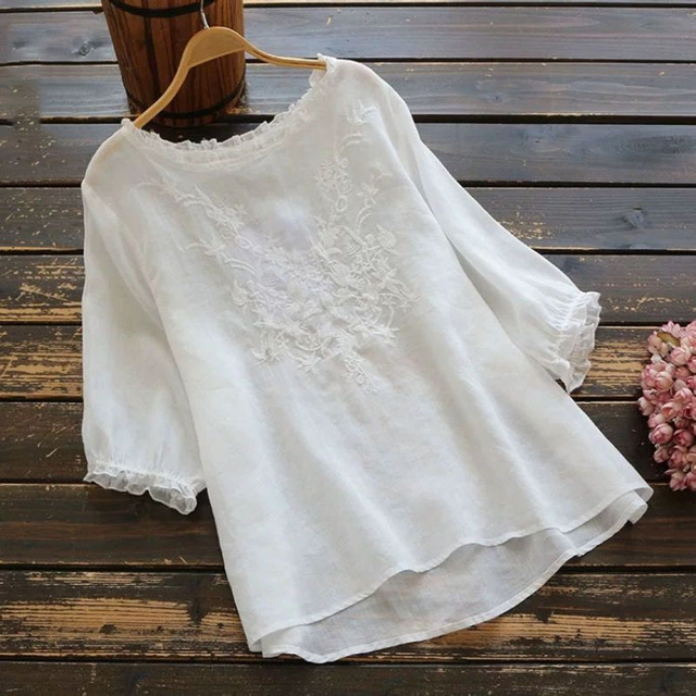 embroidered comfy t-shirt top 2