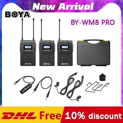 BOYA BY-WM8 Pro K1 K2 BY-WM4 pro UHF двойной беспроводной микрофон для интервью микрофон для iPhone для ПК DSLR видеокамеры