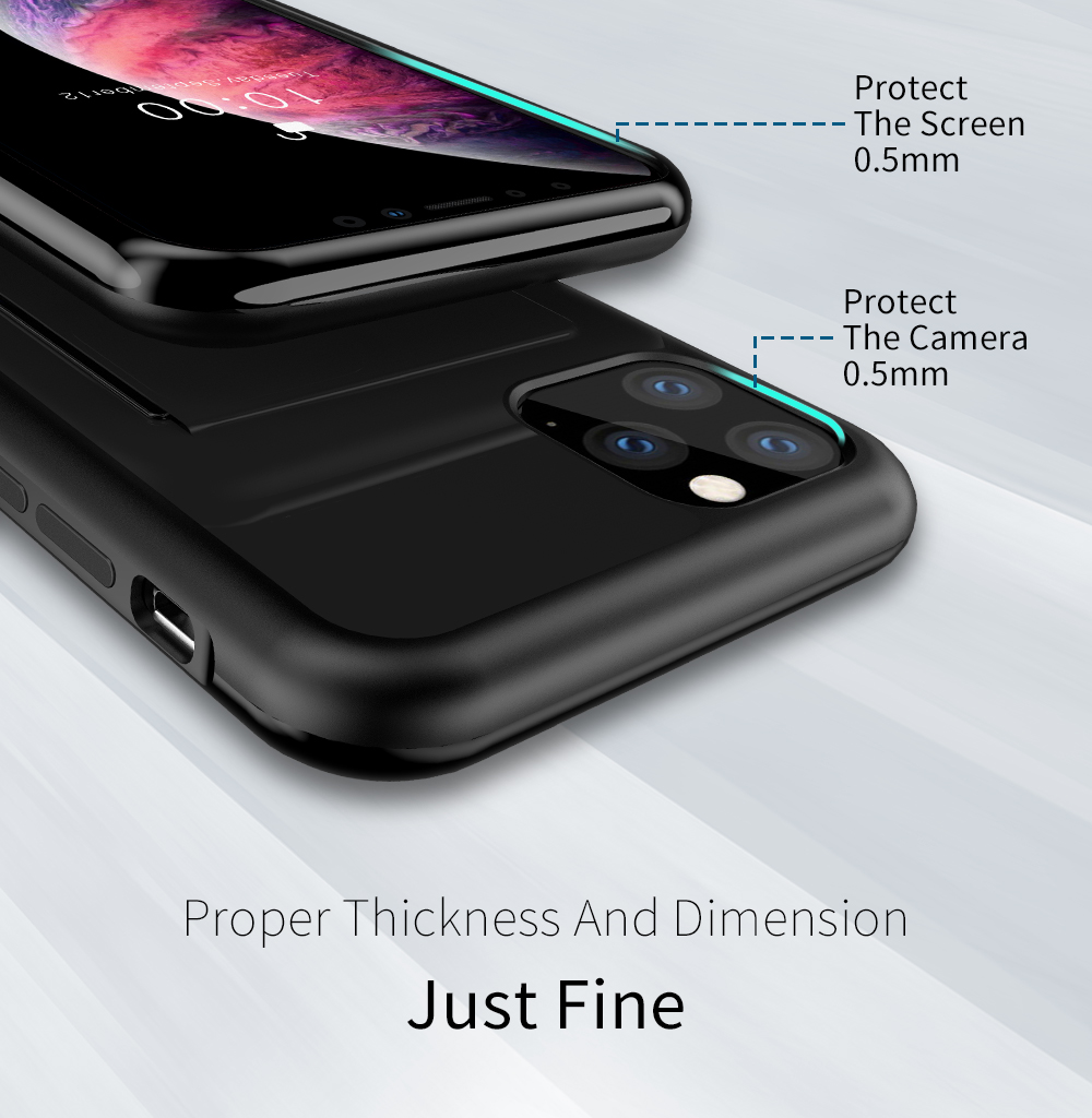 Chirm Card Pocket Case for iPhone 11/11 Pro/11 Pro Max 10