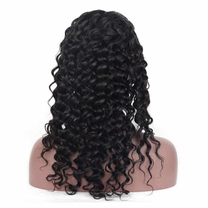 Eseewigs onda do corpo 360 laço frontal perucas de cabelo humano pré arrancado com o cabelo do bebê em torno do cabelo brasileiro remy para as mulheres cor preta