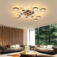 Led lâmpada do teto para sala de estar quarto estudo casa deco AC85-265V superfície branca moderna montado lâmpada do teto