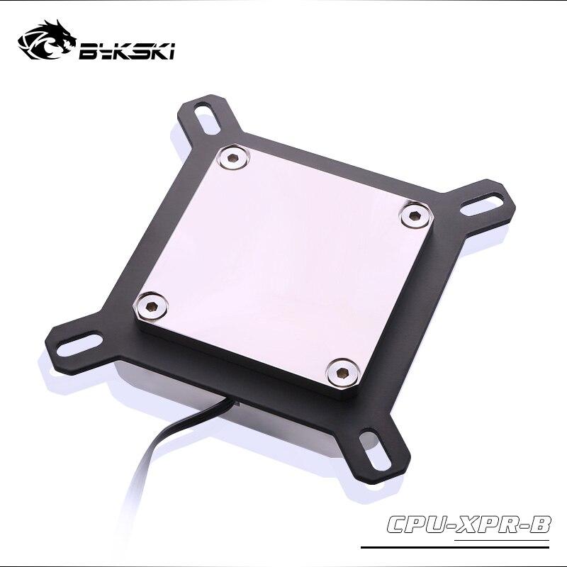 Купить с кэшбэком Bykski CPU Water Block use for INTEL LGA1150 1151 1155 1156 2011 X99 Transparent RGB support 5V 3PIN GND Header to Motherboard