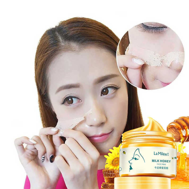 Honey Milk Extract Face Mask Mositurizing Exfoliating Blackhead Remover Pore Firming Anti-aging Brightening Facial Wax 150g