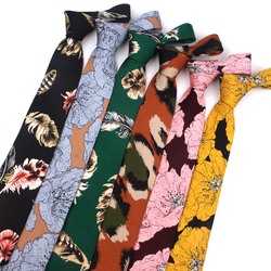 Print Floral Ties For Men Wome Printted Fashion Groomsmen Neck Tie Casaual Mens Tie 8 CM Width Necktie For Wedding Party