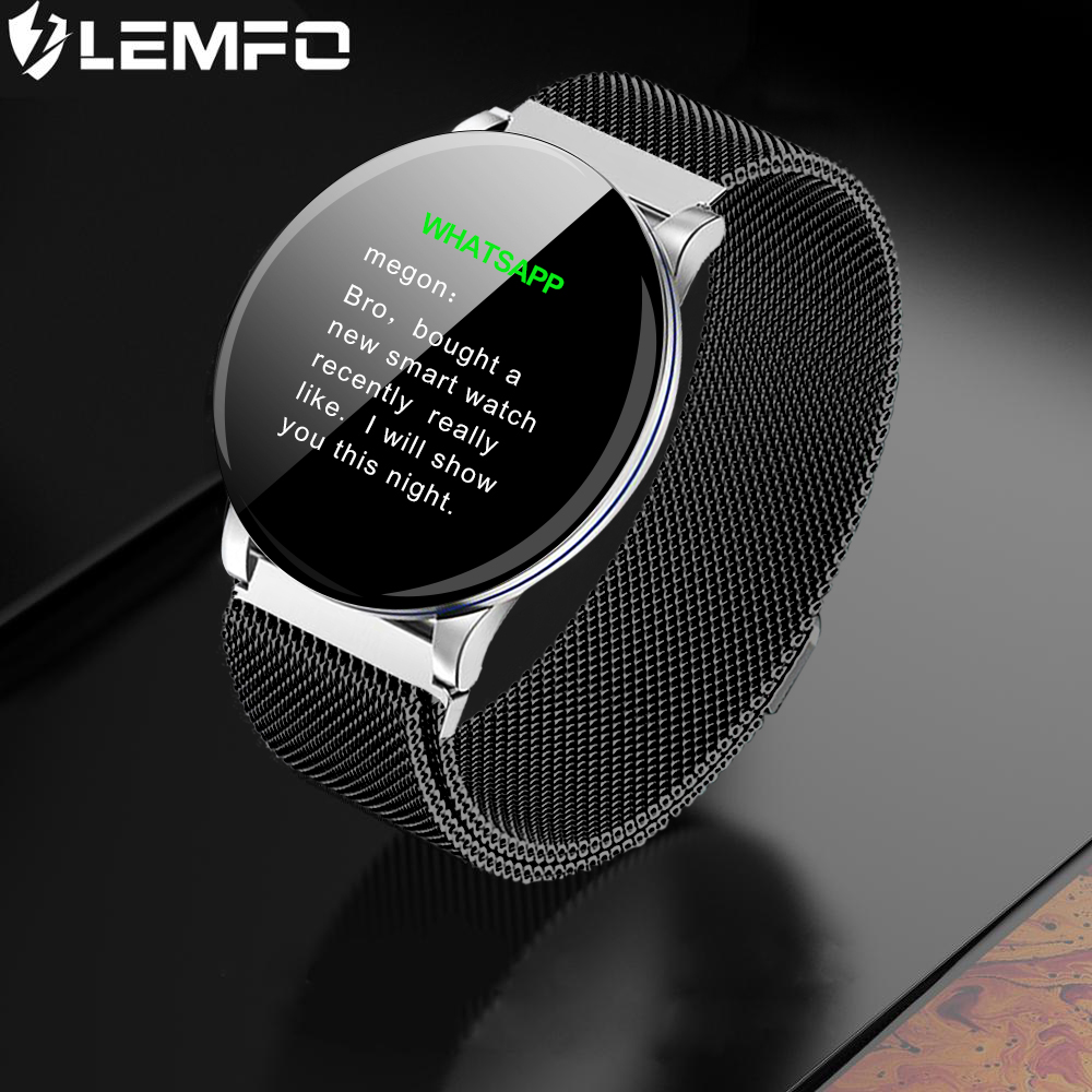 LEMFO Monitoring Smart-Watch Touch-Screen Blood-Pressure Apple Sports-Modes Android Men