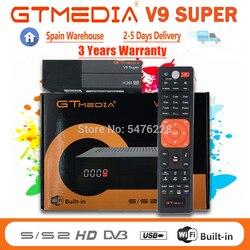Hot sale Gtmedia V9 Super Decoder New upgraded Gtmedia V8X Support DVB-S2 H.256 Wifi GTmedia V8 Nova optional No app