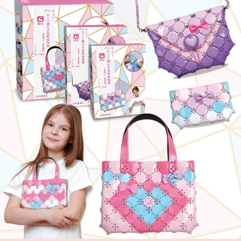 Handmade Handbags For Kid Arts And Crafts DIY Puzzles Toys Bag Children Fashion Handbag Bags