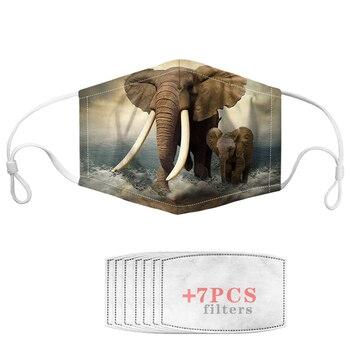 Unisex Face Mouth Mask Animal Elephant Designs Boys Fashion Children Masker For kids Girl Men Dropshipping Wholesale 1