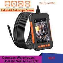 1080P HD 3.9mm Industrial Endoscope Camera 4.3inch IPS Screen Pipe Drain Sewer Duct Inspection Camera Snake Camera IP67