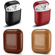Retro Genuine Leather Headphone Case Storage Bag Cover for Apple Airpods iPhone Bluetooth Earphone Case Boxes Protective Case