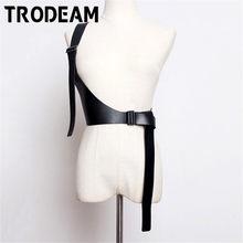 TRODEAM-Cage de Bondage en cuir pour femmes, harnais Sexy, sculpture, bretelles à la taille, bretelles, taille, Harajuku, Punk