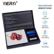 Yieryi 100g * 0,01g 200g * 0,01g 500g * 0,01g/0,1g 1000g/0,1g LCD balanza Digital de bolsillo joyas de gramo de oro balanza báscula de peso