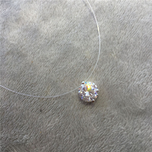 Choker Invisible Fish Line Crystal Necklace Pendants Neck Zircon Women Clavicle Chain Lady Feminino Collar