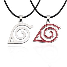 Naruto Cosplay Konoha Symbol Necklace Anime Props Accessories Men Women Gift(China)