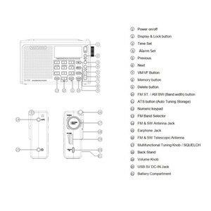 Image 5 - Radiwow R 108デジタルポータブルラジオステレオfm/lw/sw/mw/空気/のdsp液晶/高品質音アラーム機能屋内屋外