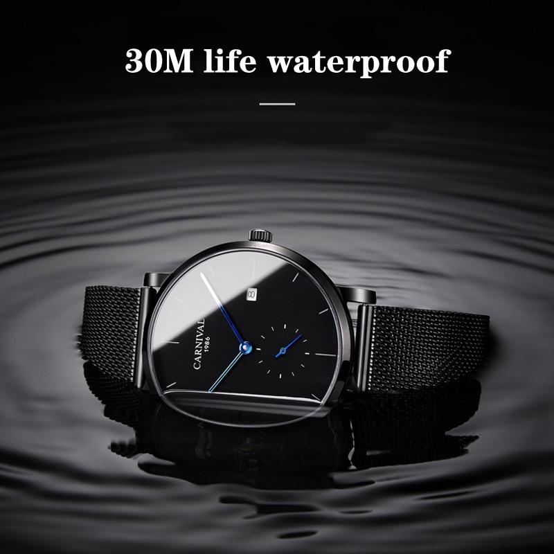 KARNEVAL Mode Herren Uhren Top Brand Luxus Multifunktions Automatische Uhr Männer Kalender Wasserdicht Leucht Mechanische Uhren - 5