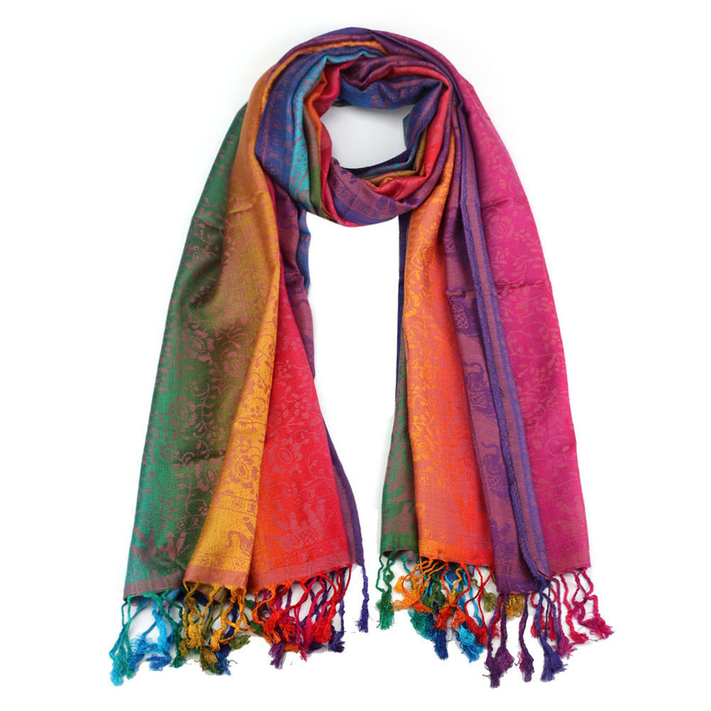 Ethnic   Scarf   For Lady Women Double Sided Elephant National Wind   Scarf     Wraps   Shawl Fashion Accessories de gasa de verano #YL5