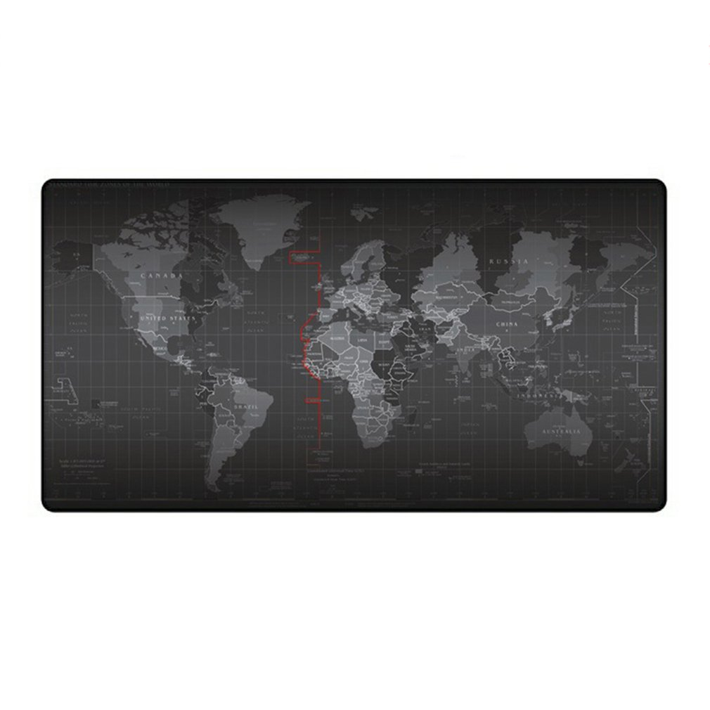 Super Large Size World Map Design Keyboard Mouse Pad Anti-Skid Durable Mousepad Mouse Mat Keyboard Mat Table Mat
