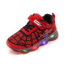 Кроссовки для мальчиков и девочек с изображением Человека-паука; детская обувь с подсветкой; кроссовки; коллекция года; сезон весна-осень; обувь для детей; обувь для маленьких девочек
