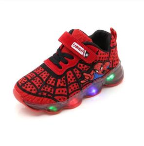 Boys Sneaker Girls Spiderman Kids Led Shoes With Lights Sneaker 2020 Spring Autumn Shoes Children Toddler Baby Girl Shoes(China)