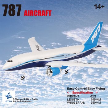 QF008-Boeing 787 2.4GHz 3CH EPP RC Airplane 550mm Wingspan Fixed Wing RTF Scale Aeromodelling Remote Control Airplanes цена 2017