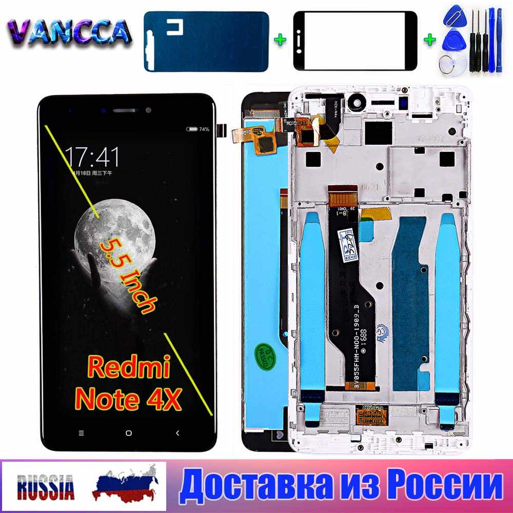 Lcd Display Voor Xiaomi Redmi Opmerking 4 Global / Note 4X Touch Screen Digitizer Vergadering Frame Voor Xiaomi Redmi Note 4X Lcd-scherm