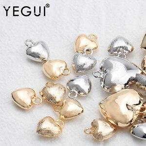 YEGUI M805, biżuteria akcesoria, 18k pozłacane, 0.3 mikronów, diy wisiorek, rodowane, diy kolczyki, tworzenia biżuterii, 10 sztuk/partia