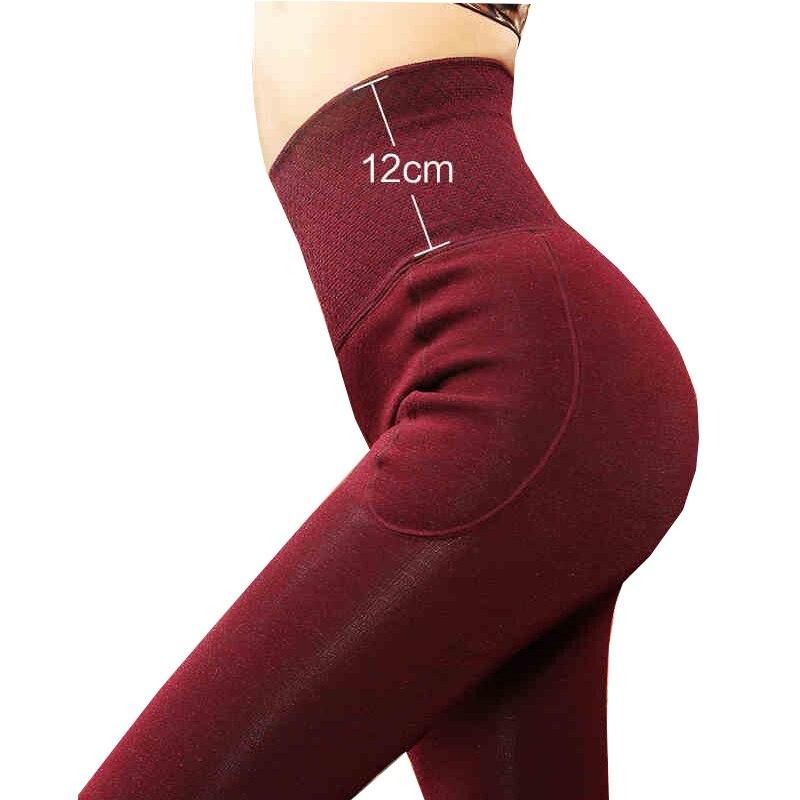 LANGSHA Women   Leggings   Winter Warm Pants 12CM High Waist Slimming Thicken Good Elastic Women's Warm Velvet Body Shaper   Leggings