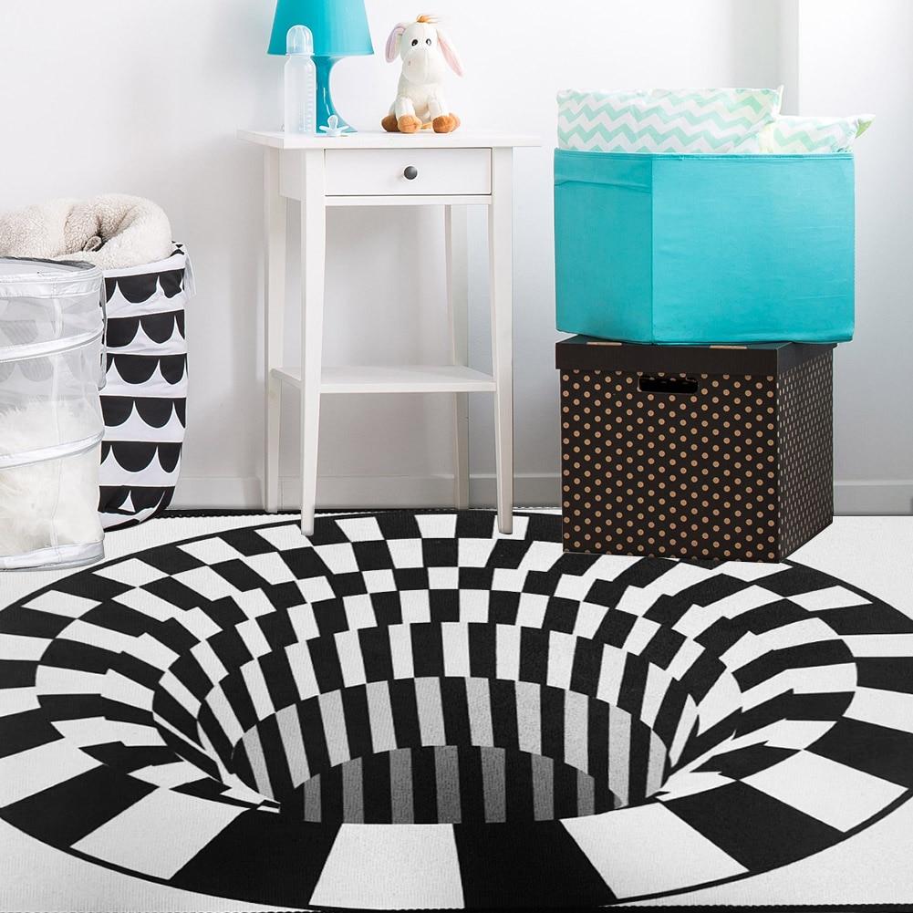 3D Vortex Illusion Rug Swirl Print Optical Illusion Rug Carpet Floor Pad Rectangular Non slip Doormat Mats for Home Dropshipping Rug    - AliExpress