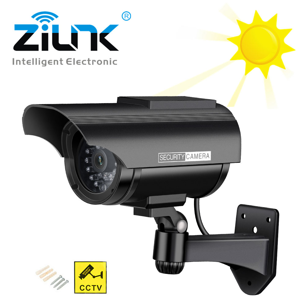 Solar Power Fake Camera Outdoor Security Waterproof Dummy Camera With Flashing Red LED CCTV Surveillance Camera Wholesale