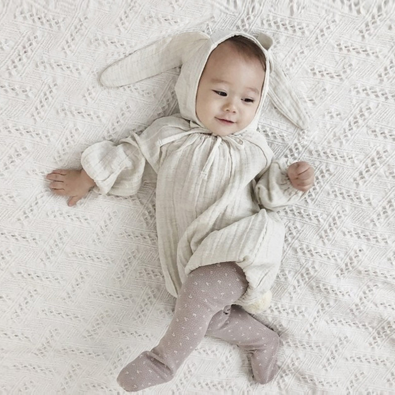Newborn Baby Bodysuits Spring White Long Sleeve Infant Girl Boy Clothing Korean Design Cotton Baby Clothes Photography Costumes
