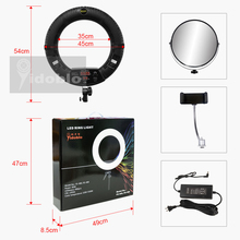 Yidoblo FD 480II ledリングランプライト 18 インチ白 2 色のスタジオledビデオランプ写真照明 96 ワット 5500 18k 480LEDライト