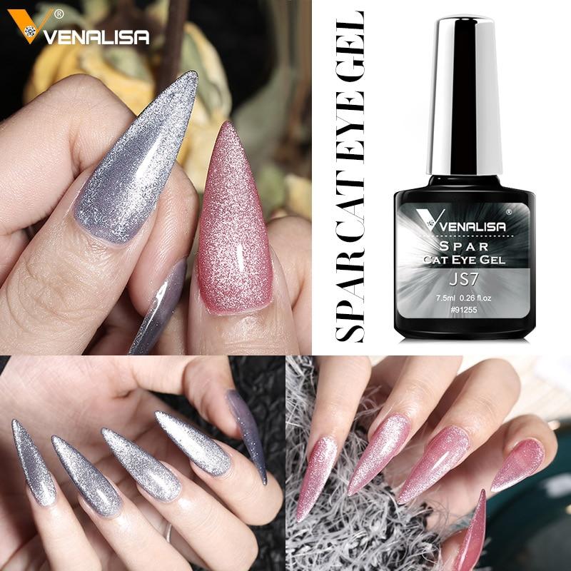 Venalisa Transparent Gel Polish Varnishes Hybrid Nails For Manicure 7.5ML Ice Spar Cat Eyes Soak off Enamel UV Gel Nail Polish 5