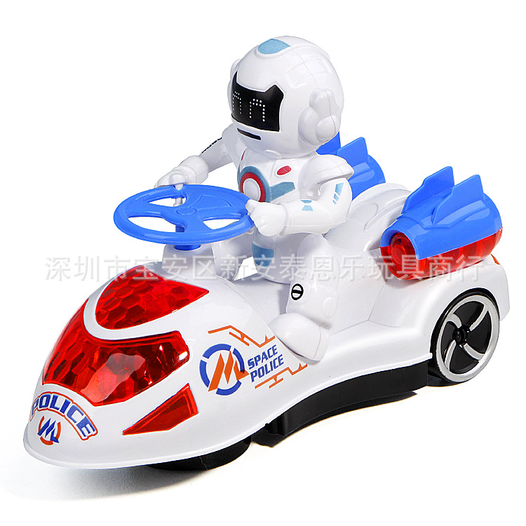 Children Spider-Man Swing Car Electric Universal Wheel Cartoon Car With Light And Music Stall Toy Car