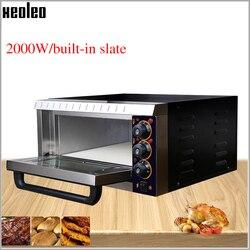 XEOLEO piec elektryczny piec piekarniczy piec do pizzy i chleba handlowa pojedyncza warstwa piekarnia sprzęt z łupek 2000W 220V