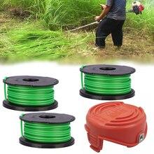 4pcs Lawn Mower Replacement Kits Grass String Trimmer Spool Line + Cap For Black & Decker GL7033 GL8033 GL9035 Home Garden Tool