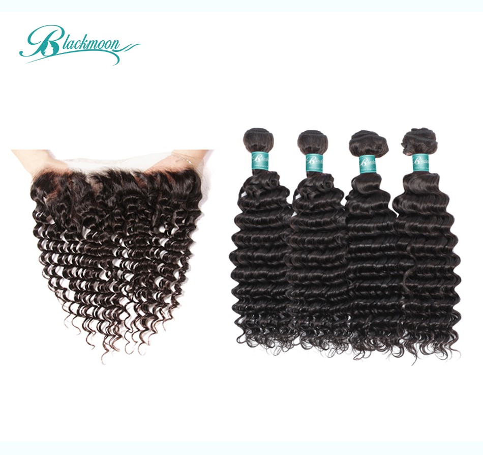 water wave hair weave 3 4 bundles with frontal