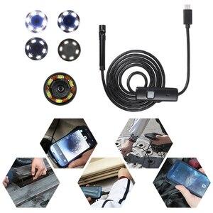 Image 3 - OWSOO endoskop kamera 7MM 6 LED Lens 2m su geçirmez muayene Borescope Mini kamera tel yılan tüp usb kameralı boru muayene cihazı