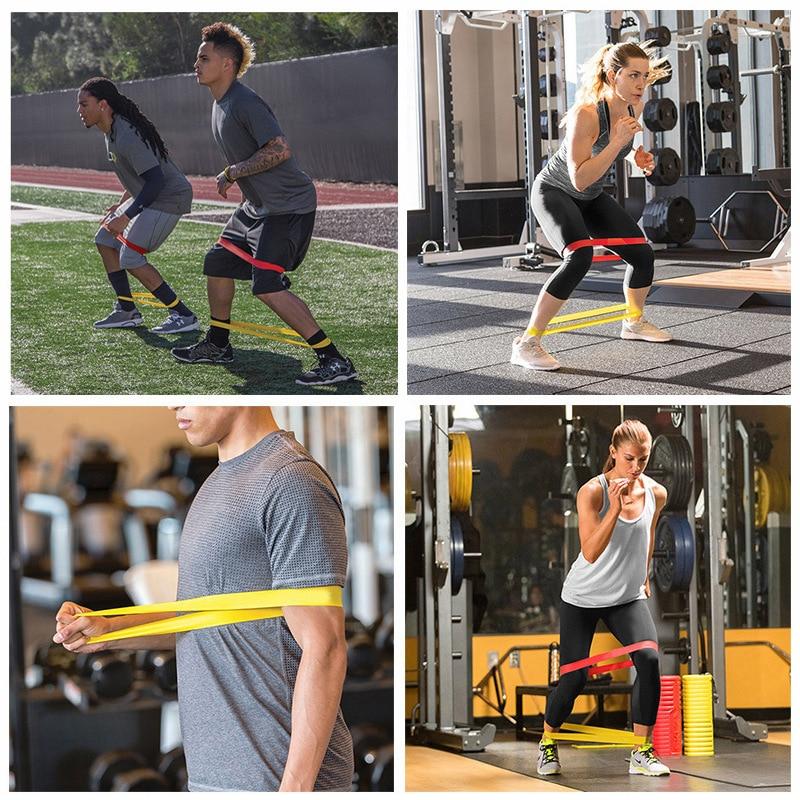 Резиновые ленты для йоги, эластичные ленты для фитнеса 0,3 мм-1,1 мм, тренировочная резинка для фитнеса, пилатеса, спортивное оборудование для кроссфита и тренировок-1