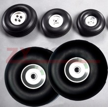 """1 pair 8.5""""/216mm PU wheel with Dia Casting Aluminum Hub w/ Screw For RC Airplane"""