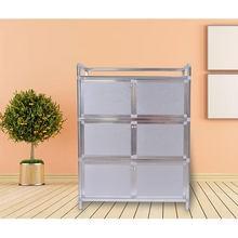 Armário de aço inoxidável engrossado de qkuqg cabinetwork fácil de limpar, forte e durável