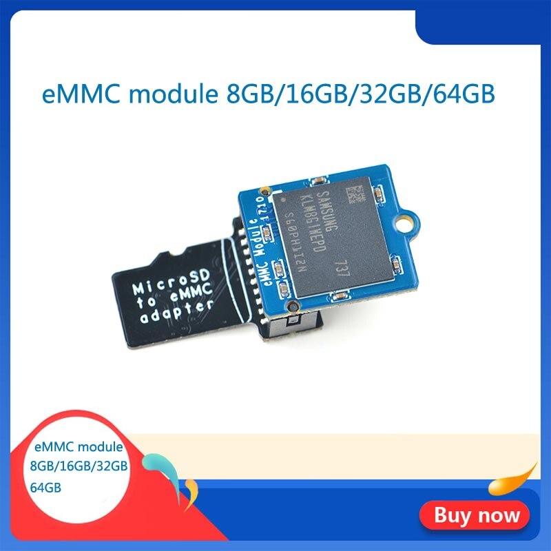 emmcモジュール-8-ギガバイト-16-ギガバイト-32-ギガバイト-64-ギガバイトmicrosdターンemmcアダプタt2