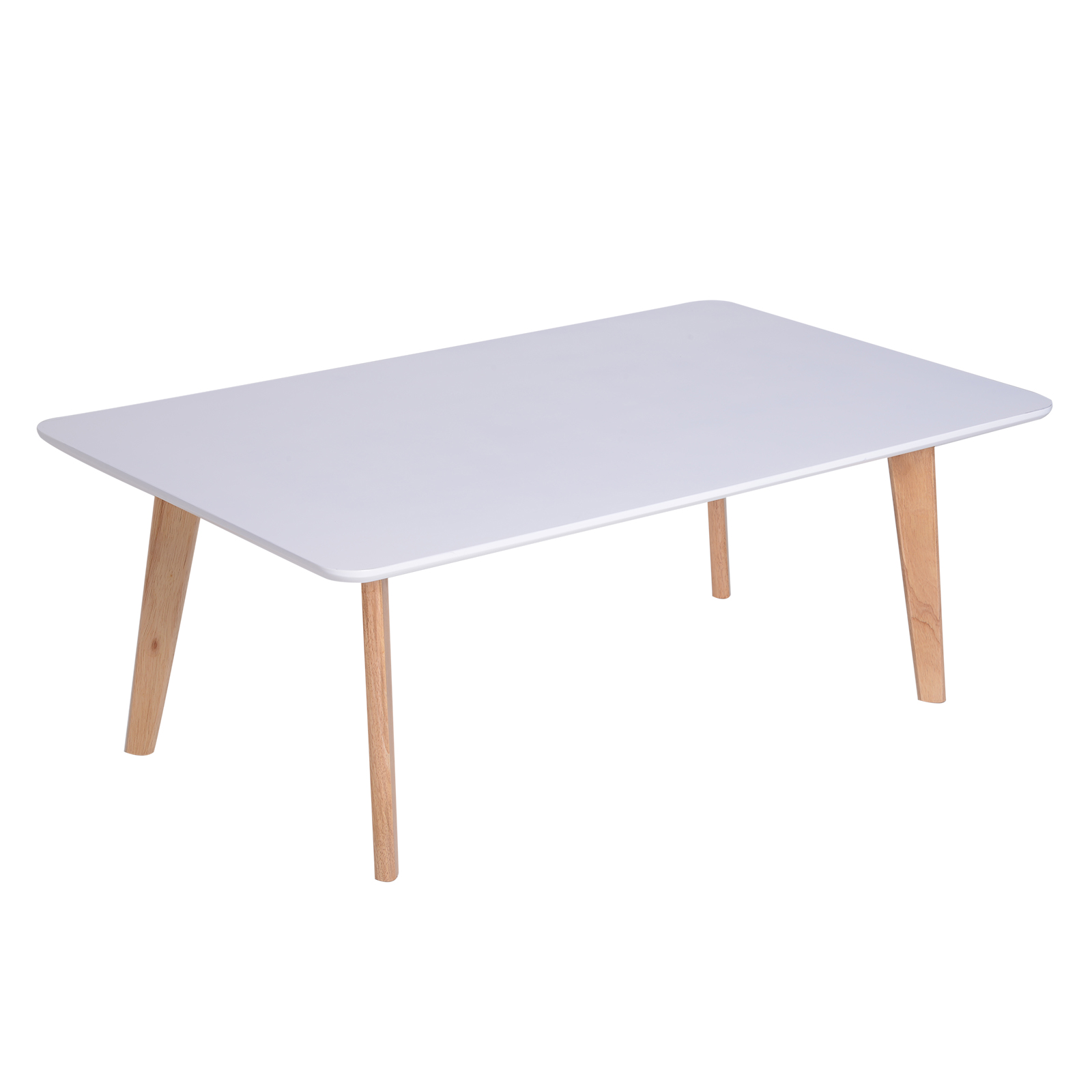 HOMCOM Coffee Table Nordic Style Living Room Wood 120x70x45 Cm White