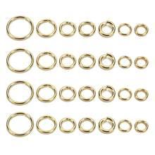 Novo ouro anéis de salto aberto de aço inoxidável 3/4/5/6/7/8/10mm conectores de anéis rachados para descobertas de jóias diy que fazem por atacado